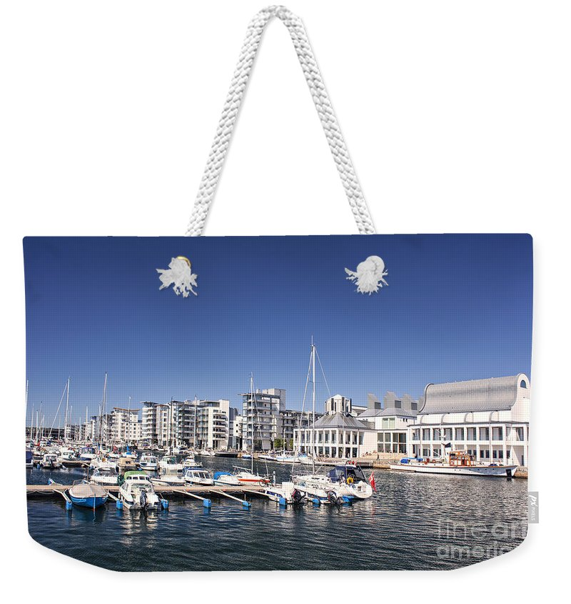 Harbour Weekender Tote Bag featuring the photograph Marina by Sophie McAulay