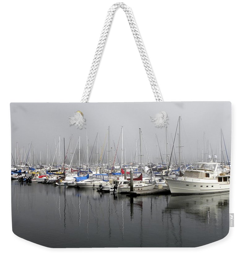 Marine Weekender Tote Bag featuring the photograph Marine Fog by Brigitte Mueller