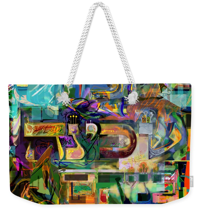 Weekender Tote Bag featuring the digital art Marital Harmony 54 by David Baruch Wolk