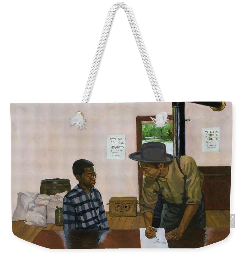 Voting Weekender Tote Bag featuring the painting Mark Of Shame by Colin Bootman