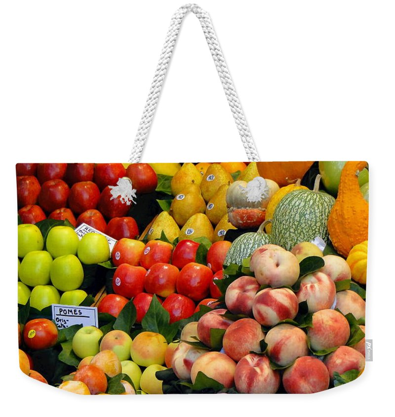 Food Weekender Tote Bag featuring the photograph Market Time II by Sue Melvin
