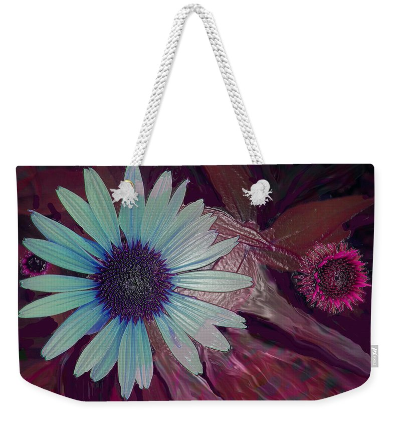 Flower Weekender Tote Bag featuring the photograph Maroon Mood by Ian MacDonald