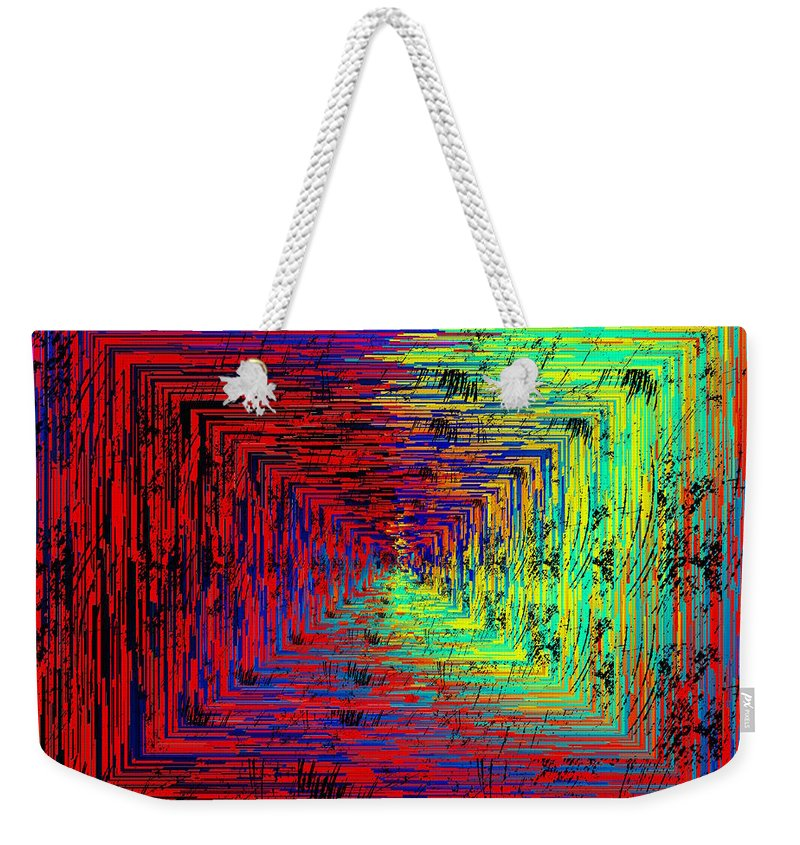 Abstract Weekender Tote Bag featuring the digital art Marsh Madness by Tim Allen
