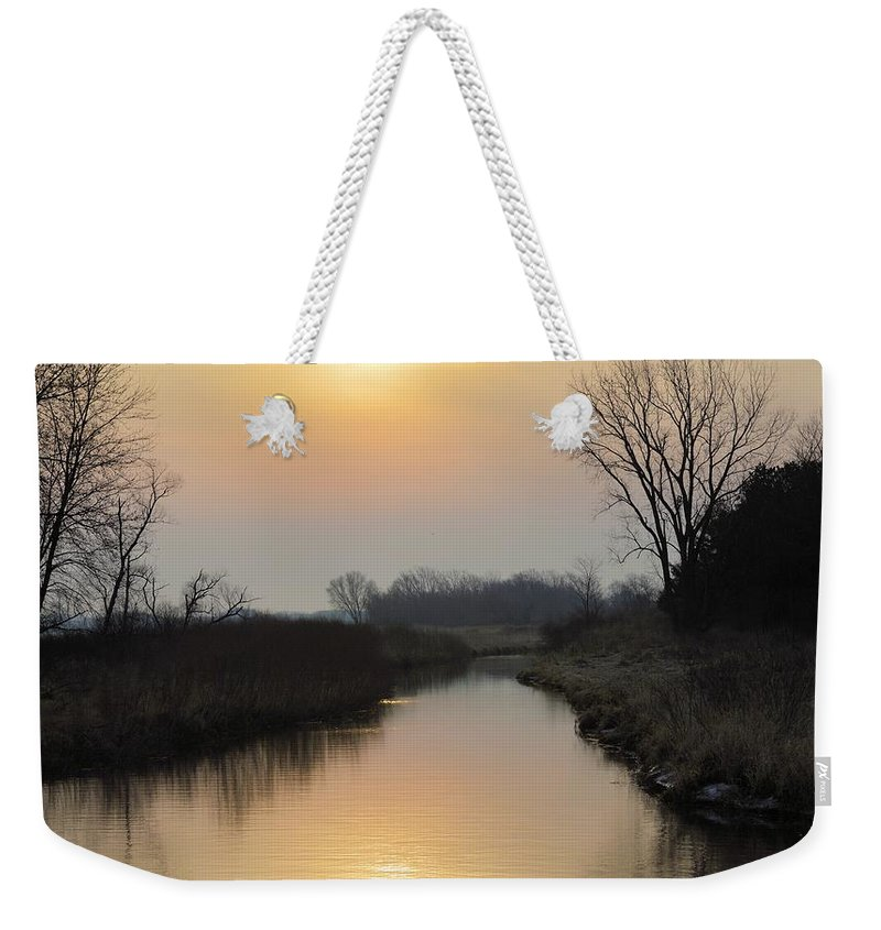 Sunrise Weekender Tote Bag featuring the photograph Marsh Rise by Bonfire Photography