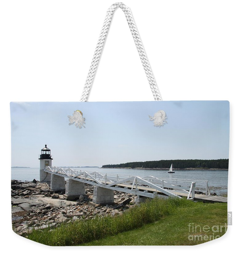 Marshall Point Light Station Weekender Tote Bag featuring the photograph Marshall Point Light Station by Christiane Schulze Art And Photography