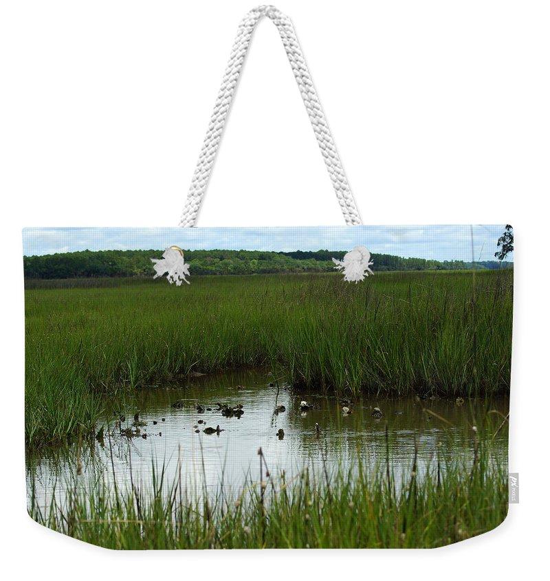 Marsh Lands Around Hilton Island Weekender Tote Bag featuring the photograph Marshlands Around Hilton Head Island by Kim Pate