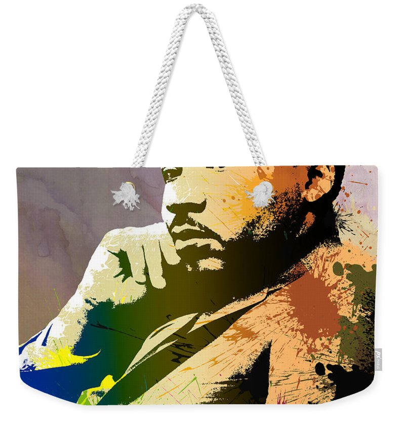 Nonviolence Weekender Tote Bag featuring the digital art Martin Luther King Jr. by Anthony Mwangi