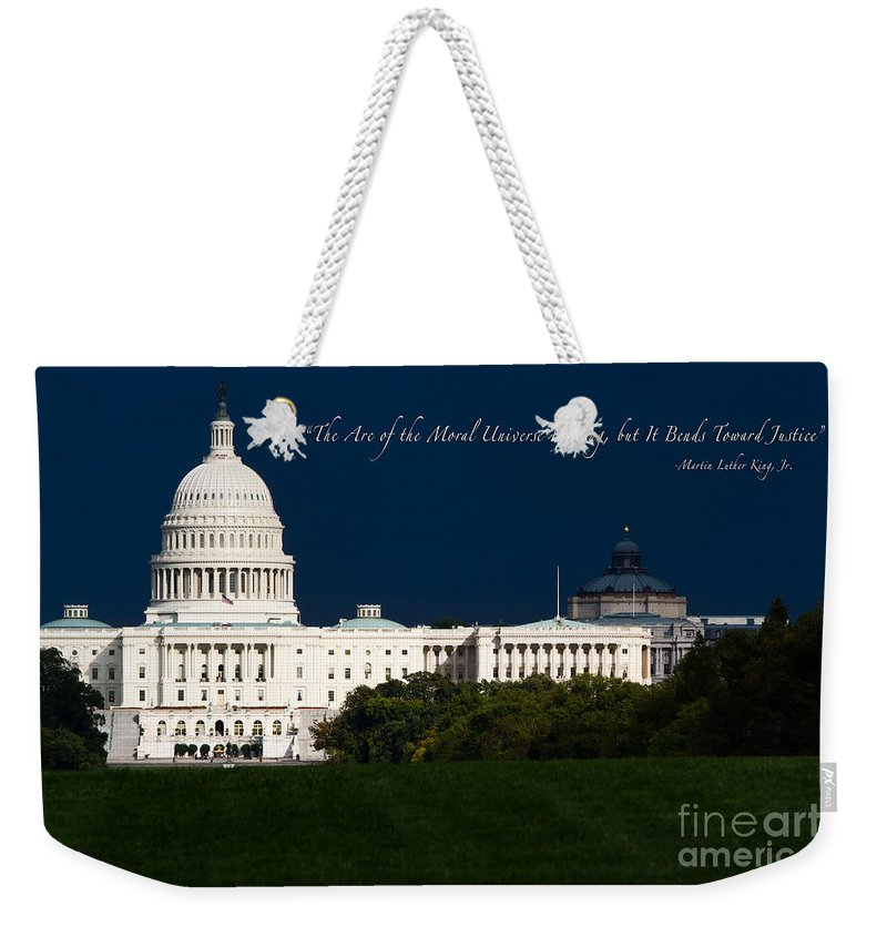 Washington Dc Weekender Tote Bag featuring the photograph Martin Luther King Jr. by Doug Sturgess