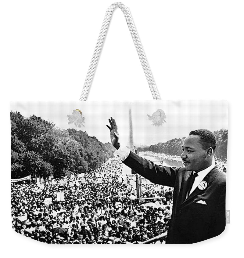 Martin Luther King The Great March On Washington Lincoln Memorial August 28 1963 Weekender Tote Bag featuring the photograph Martin Luther King The Great March On Washington Lincoln Memorial August 28 1963-2014 by David Lee Guss
