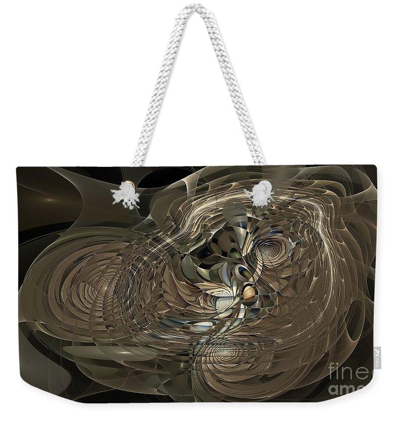 Figure Weekender Tote Bag featuring the digital art Marucii 248-02-13 Abstraction by Marek Lutek