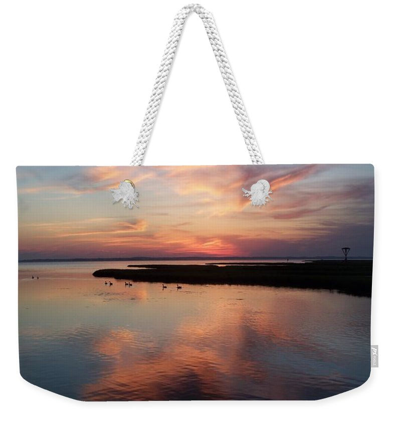Maryland Weekender Tote Bag featuring the photograph Maryland Sunset by Eric Schiabor