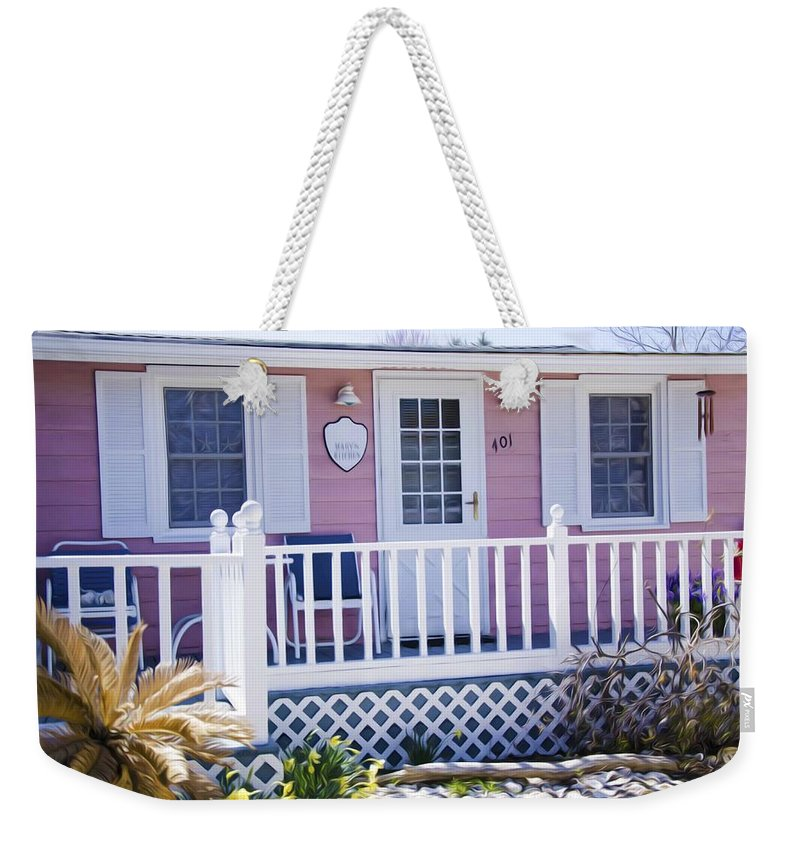 Door Weekender Tote Bag featuring the painting Mary's Kitchen House by Jeelan Clark
