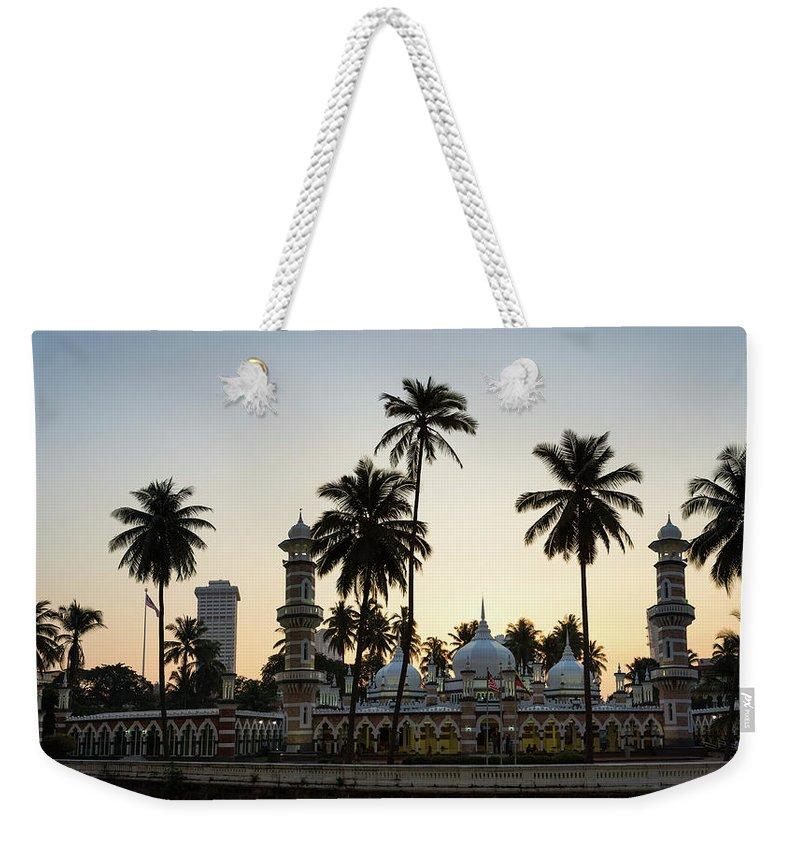 Clear Sky Weekender Tote Bag featuring the photograph Masjid Jamek - Kuala Lumpur by @ Didier Marti