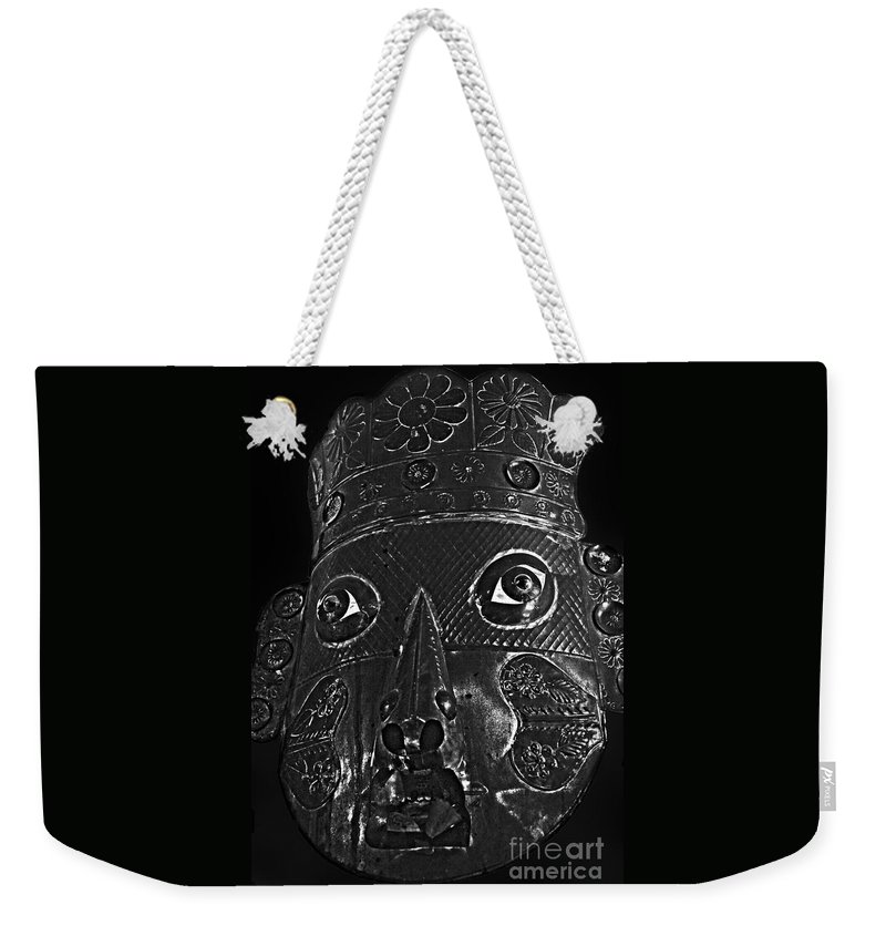 Mask Weekender Tote Bag featuring the photograph Mask by Cassandra Buckley