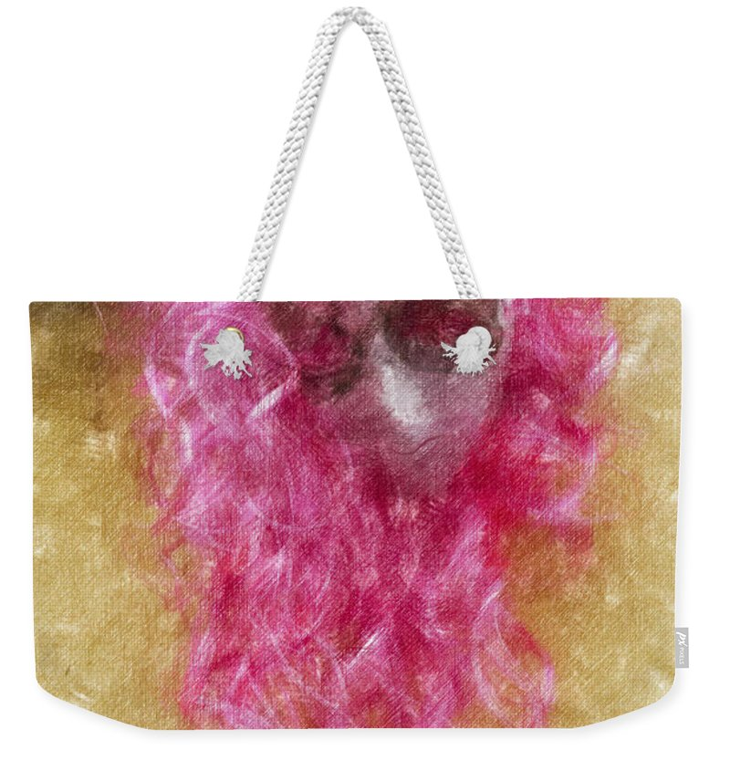 Mask Weekender Tote Bag featuring the photograph Mask Light Color Pencil by David Lange