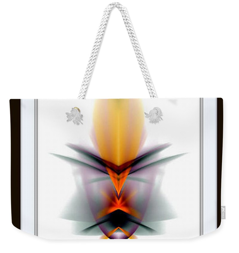 Abstract Weekender Tote Bag featuring the mixed media Mask by Rafael Salazar
