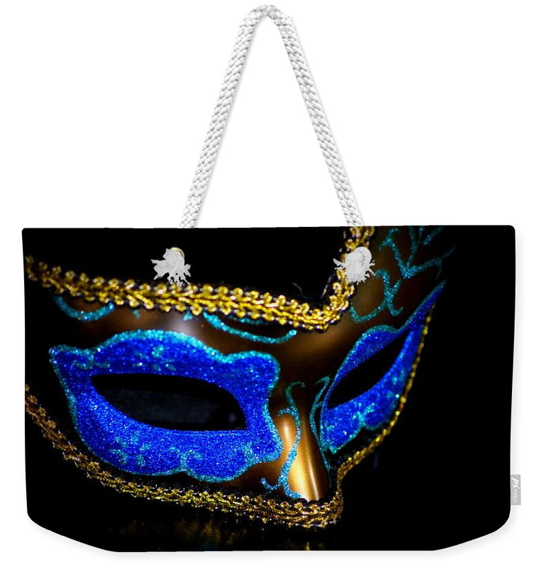 Digital Photography Weekender Tote Bag featuring the photograph Mask Series 10 by Laurie Pike