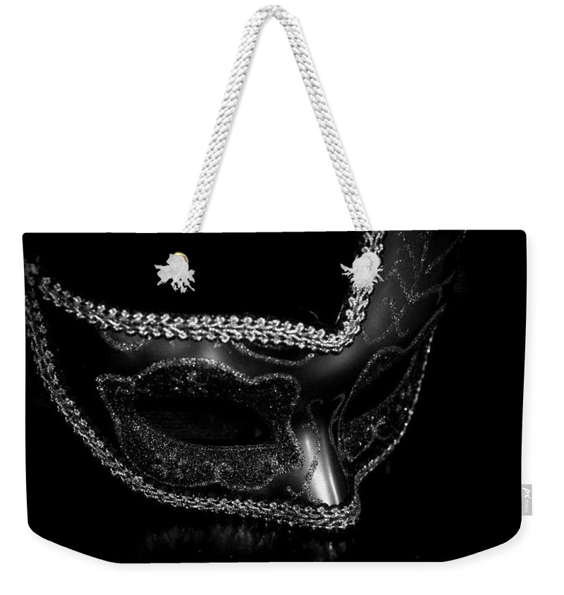 Digital Photography Weekender Tote Bag featuring the photograph Mask Series 11 by Laurie Pike