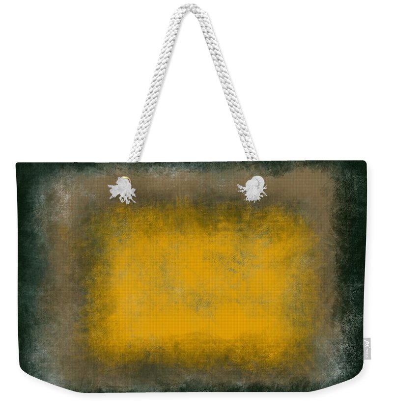 Green Weekender Tote Bag featuring the painting Massanutten I by Julie Niemela