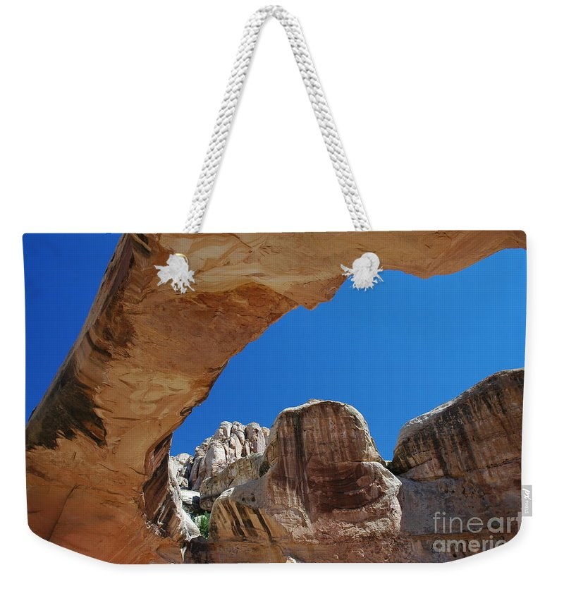 Massive Arch Weekender Tote Bag featuring the photograph Massive Arch 1 by Allen Beatty