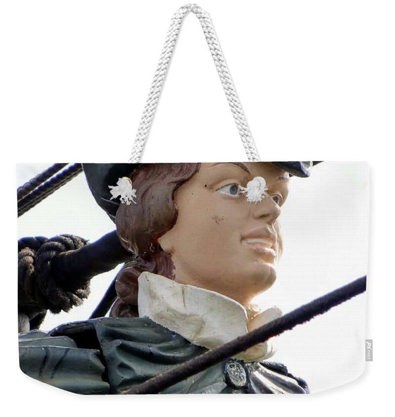 Masthead Weekender Tote Bag featuring the photograph Masthead Of The Late Bounty by Ed Weidman