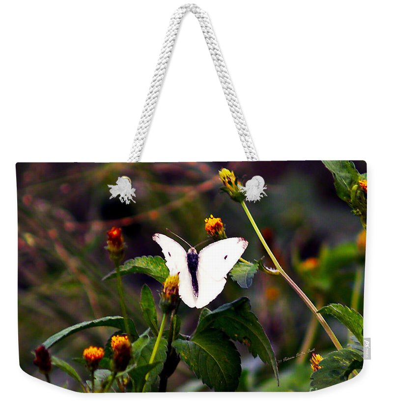 Fine Art Photography Weekender Tote Bag featuring the photograph Maui Butterfly by Patricia Griffin Brett