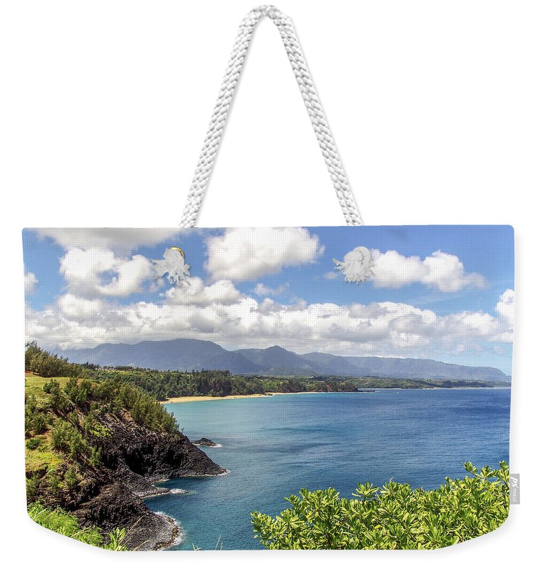 Hawaii Weekender Tote Bag featuring the photograph Maui Coast by Eric Swan