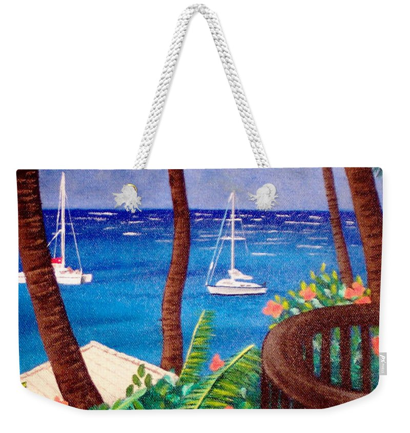 Hawaii Weekender Tote Bag featuring the painting Maui by Liz Boston