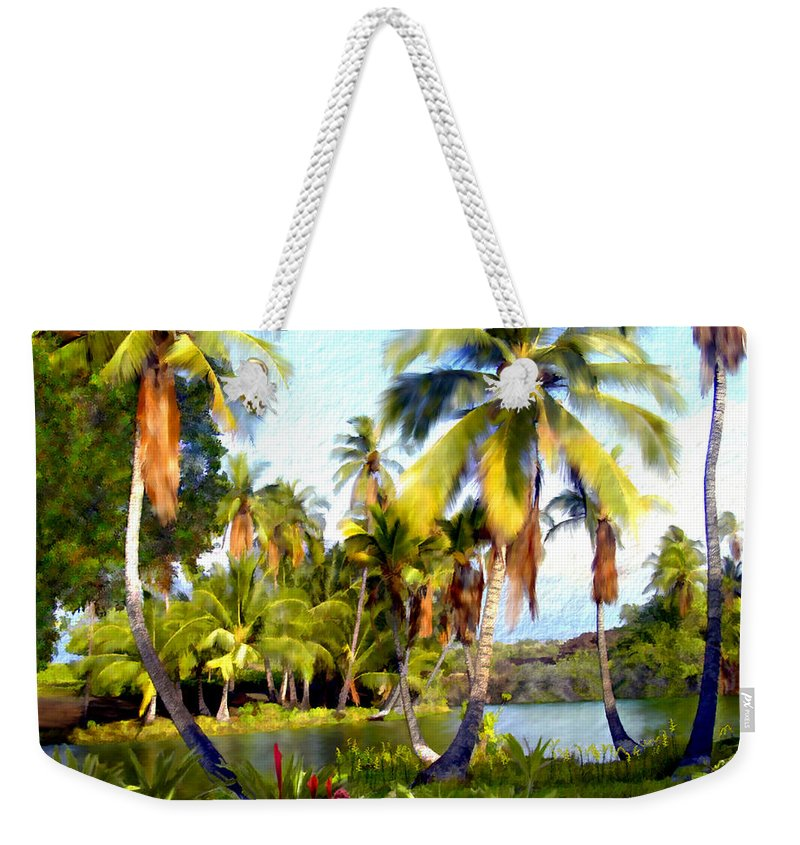 Hawaii Weekender Tote Bag featuring the photograph Mauna Lani Fish Ponds by Kurt Van Wagner