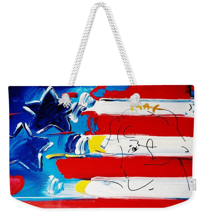 Modern Weekender Tote Bag featuring the photograph Max Stars And Stripes by Rob Hans