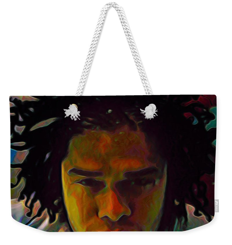 Maxwell Weekender Tote Bag featuring the painting Maxwell by Fli Art