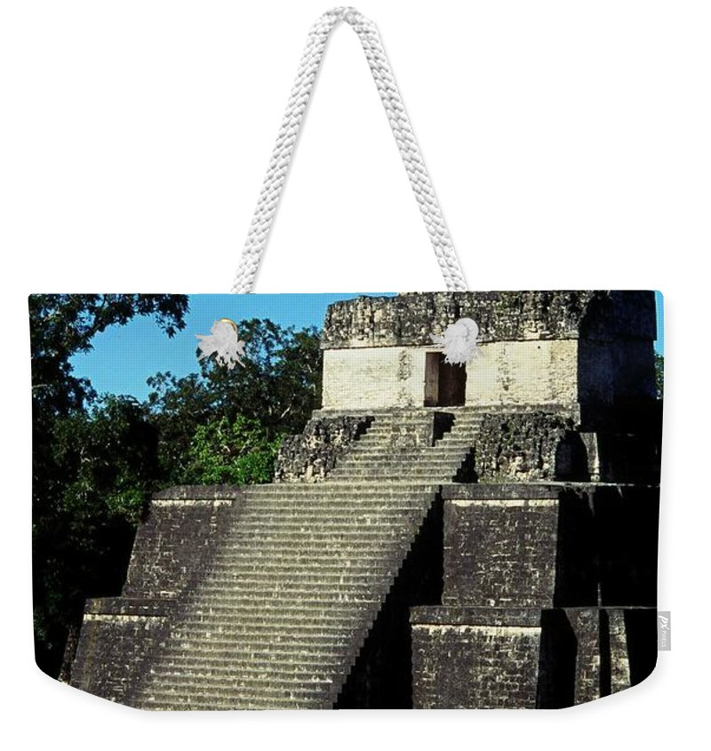 Guatemala Weekender Tote Bag featuring the photograph Mayan Ruins - Tikal Guatemala by Juergen Weiss