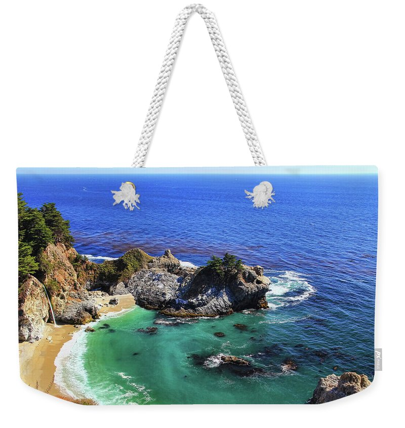 Scenics Weekender Tote Bag featuring the photograph Mcway Falls by David Toussaint