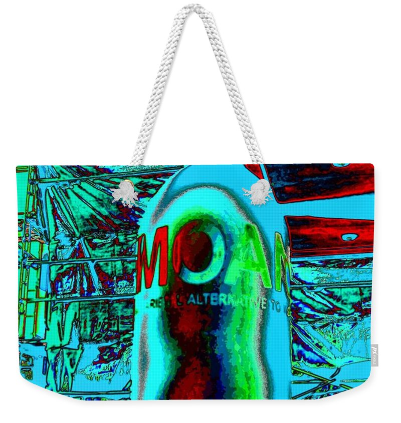 Abstract Weekender Tote Bag featuring the photograph Meaning Of Moan by Lauren Leigh Hunter Fine Art Photography