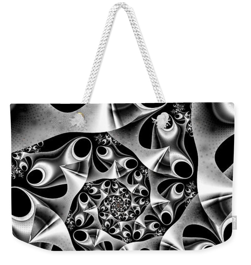 Mechanica Weekender Tote Bag featuring the digital art Mechanica by Kimberly Hansen