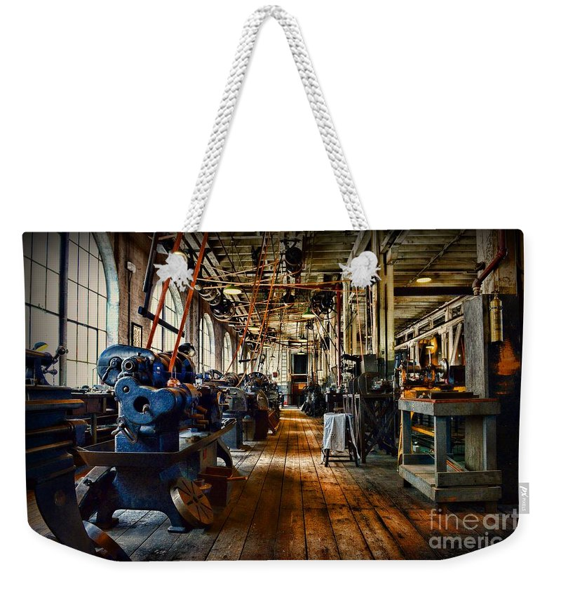 Paul Ward Weekender Tote Bag featuring the photograph Mechanical Works by Paul Ward