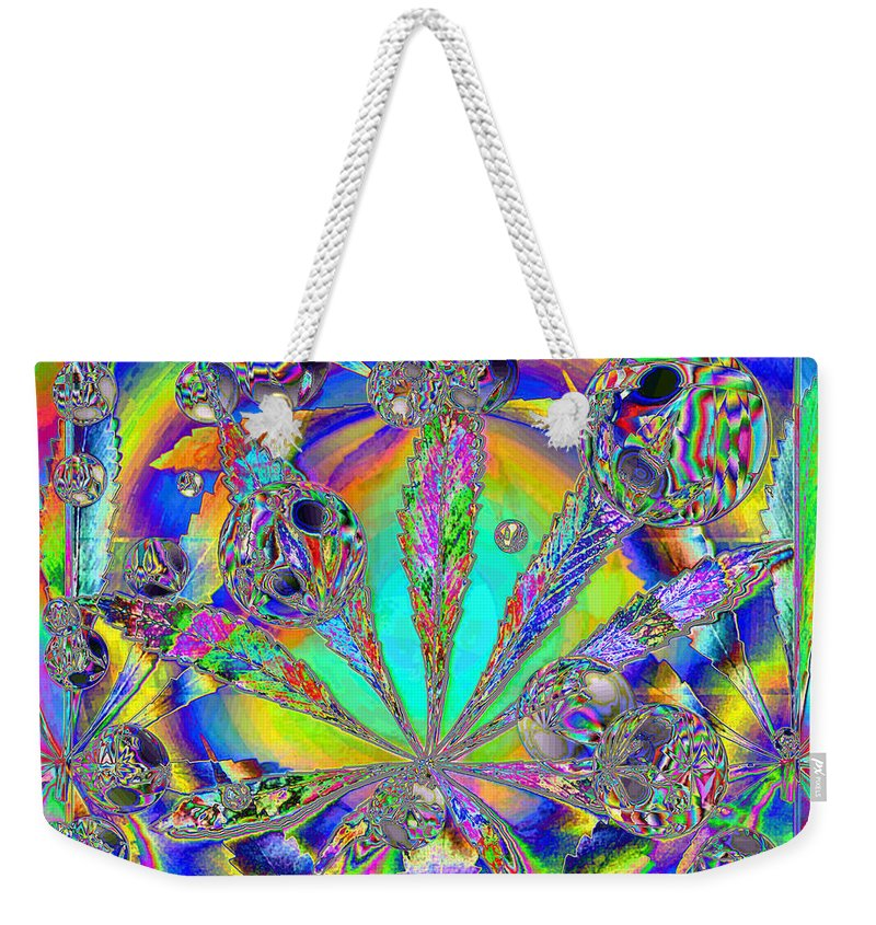 Marijuana Weekender Tote Bag featuring the photograph Medicinal One by Joyce Dickens