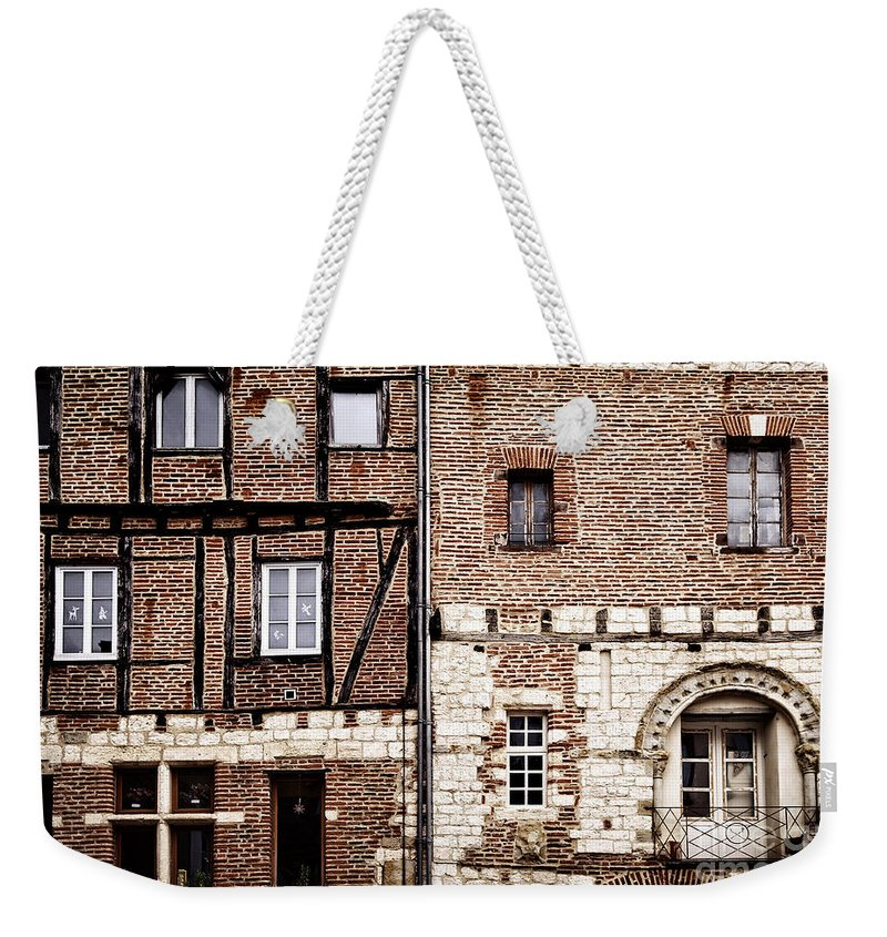 Albi Weekender Tote Bag featuring the photograph Medieval Houses In Albi France by Elena Elisseeva