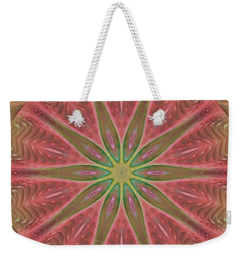 Fractal Weekender Tote Bag featuring the digital art Meditation by Deborah Benoit