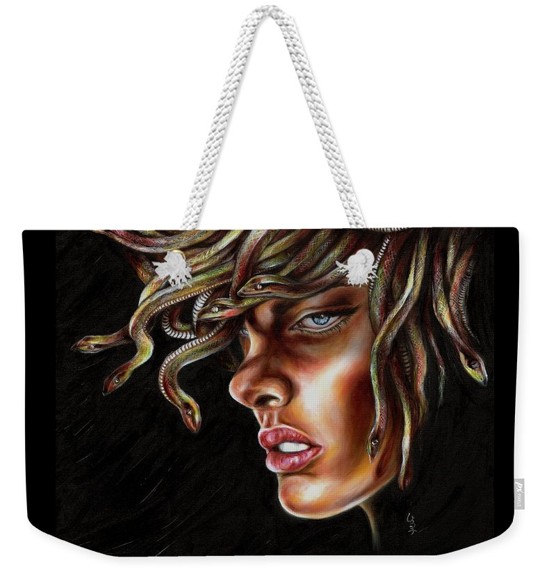 Medusa Weekender Tote Bag featuring the painting Medusa No. One by Hiroko Sakai