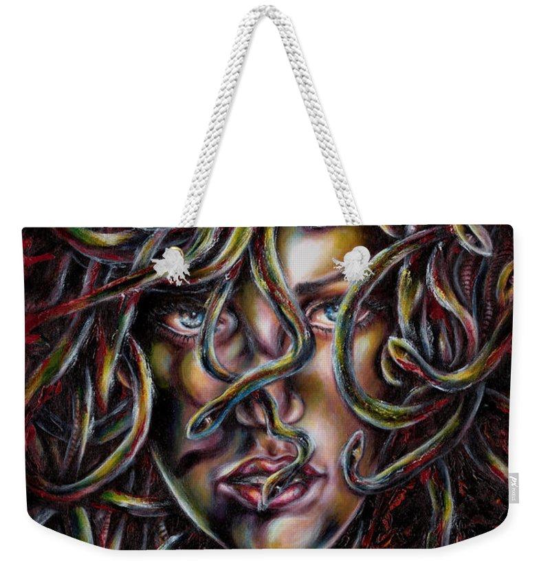 Medusa Weekender Tote Bag featuring the painting Medusa No. Three by Hiroko Sakai