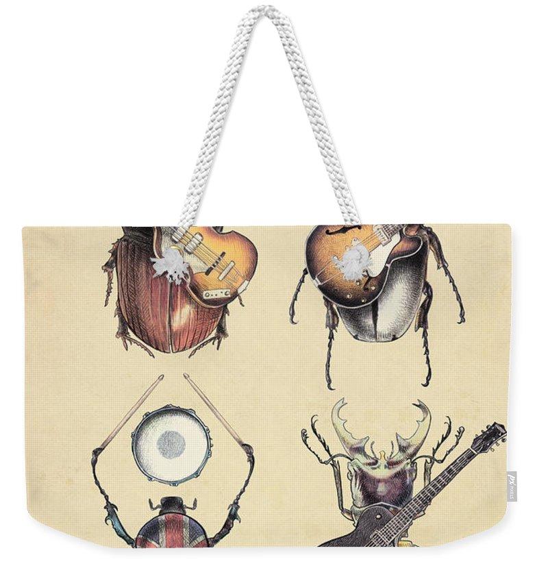 Drum Weekender Tote Bags