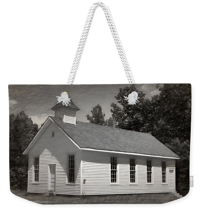 Abandoned Weekender Tote Bag featuring the photograph Meeting House by Richard Rizzo