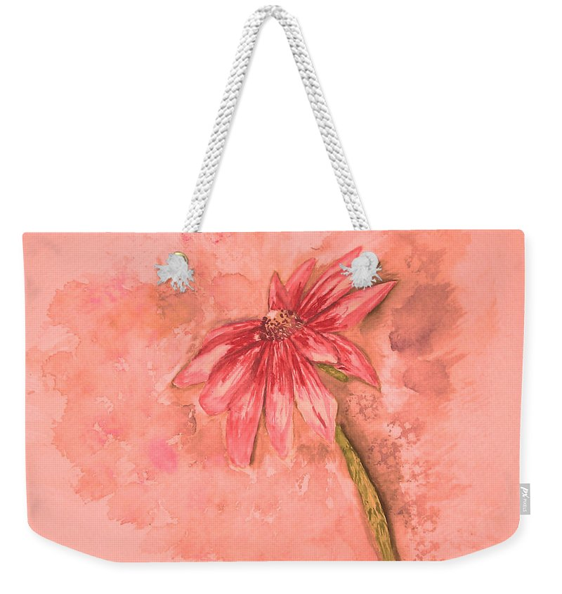 Watercolor Weekender Tote Bag featuring the painting Melancholoy by Crystal Hubbard