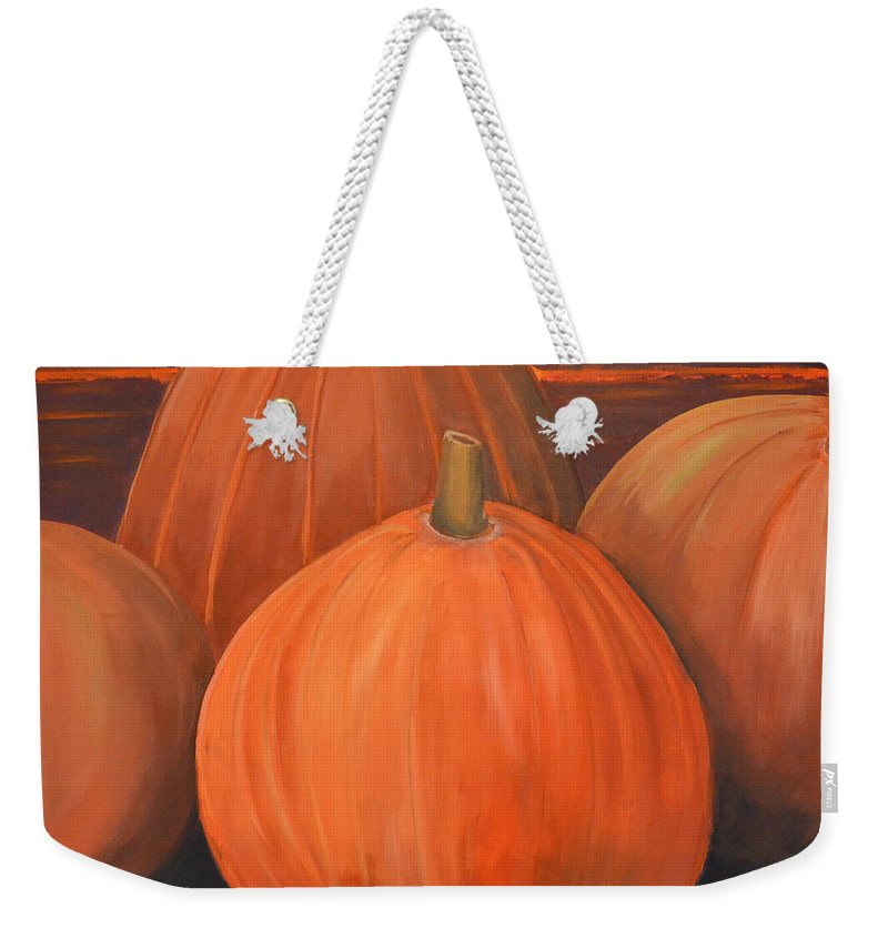 Still Life Weekender Tote Bag featuring the painting Melons by Scott Bowlinger