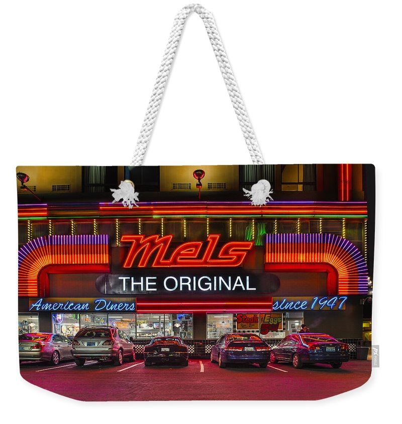 Reno Weekender Tote Bag featuring the photograph Mels Diner by Gary Warnimont