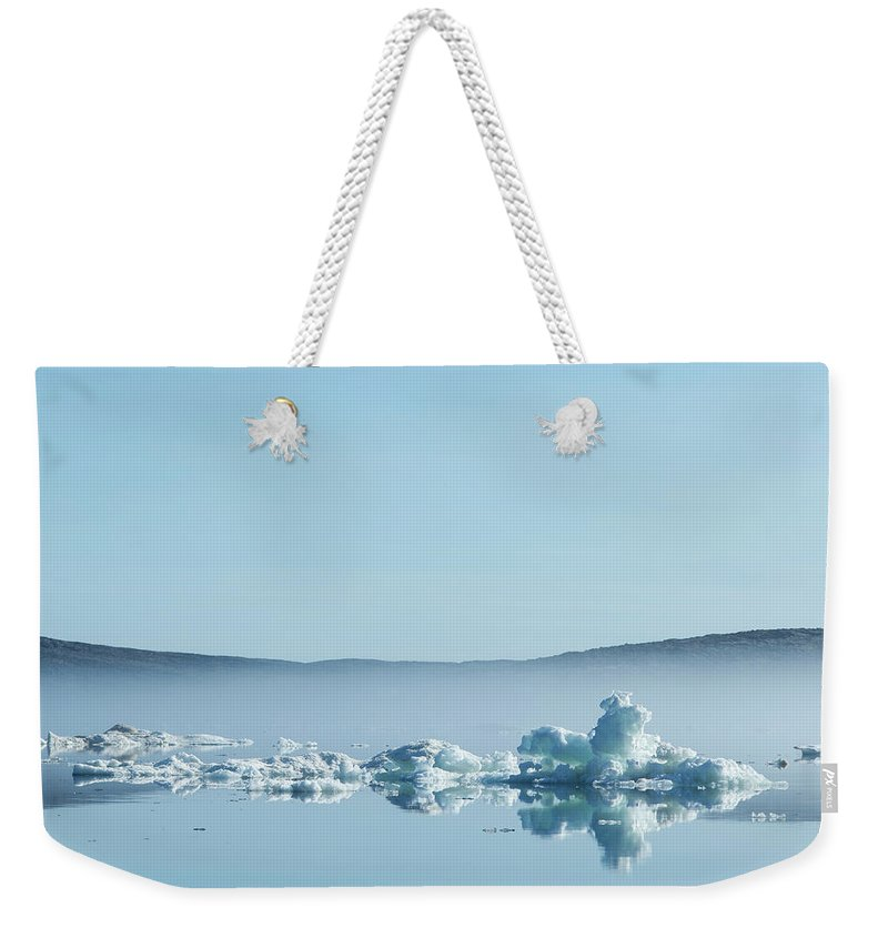 Scenics Weekender Tote Bag featuring the photograph Melting Sea Ice, Hudson Bay, Canada by Paul Souders