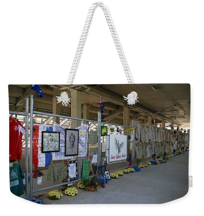 Australia Queensland Qld Weekender Tote Bag featuring the digital art Memorial by Carol Ailles
