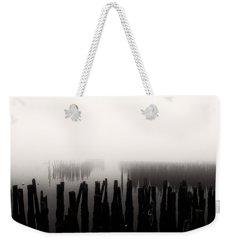 Seascape Weekender Tote Bag featuring the photograph Memories And Fog by Bob Orsillo
