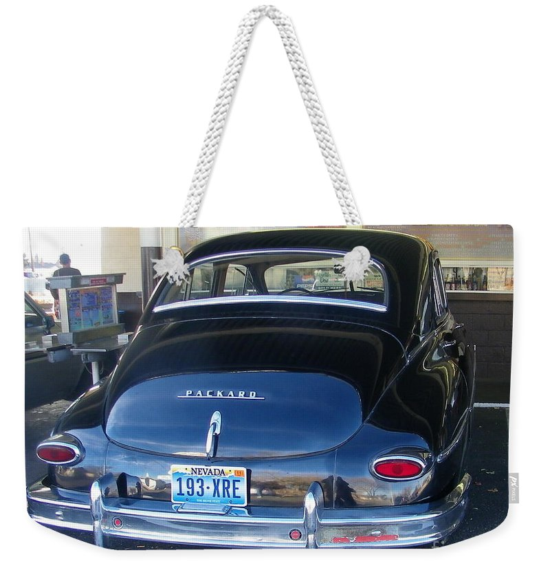 Packard Weekender Tote Bag featuring the photograph Memories by Bobbee Rickard